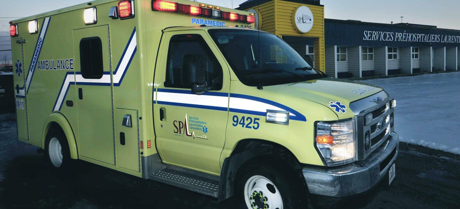 SPLL Véhicule ambulancier